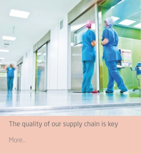 The quality of our supply chain is key to ensure quality control of your medical supplies and keep your staff efficient