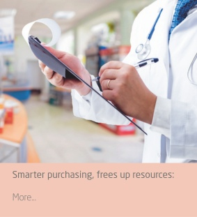 Smarter purchasing allows your staff to concentrate on medical care and surgical needs